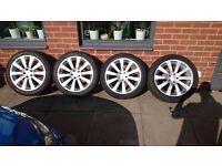 alloy wheel 5x100 205/50/17 off subaru impreza 2010 4xalloy&tyre----- £195-----only