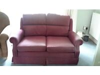 Small two seater sette. Caring owner is refurbishing and lacks space to keep this settee.