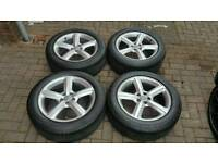 "GENUINE AUDI 19"" ALLOY WHEELS 5X112 A4 A5 A6 A7 A8 S4 Q3 RS C E VW GOLF TT SEAT PASSAT SHARAN"