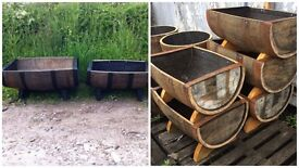 Solid Oak Ex-Whisky Barrels for Planters, Tables, Chairs & More