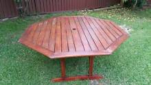 8 Seater solid timber outdoor dining set octagon shape Burwood Burwood Area Preview