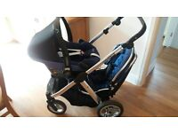 Oyster Max 2 Silver Pushchair - Blue Colour Pack