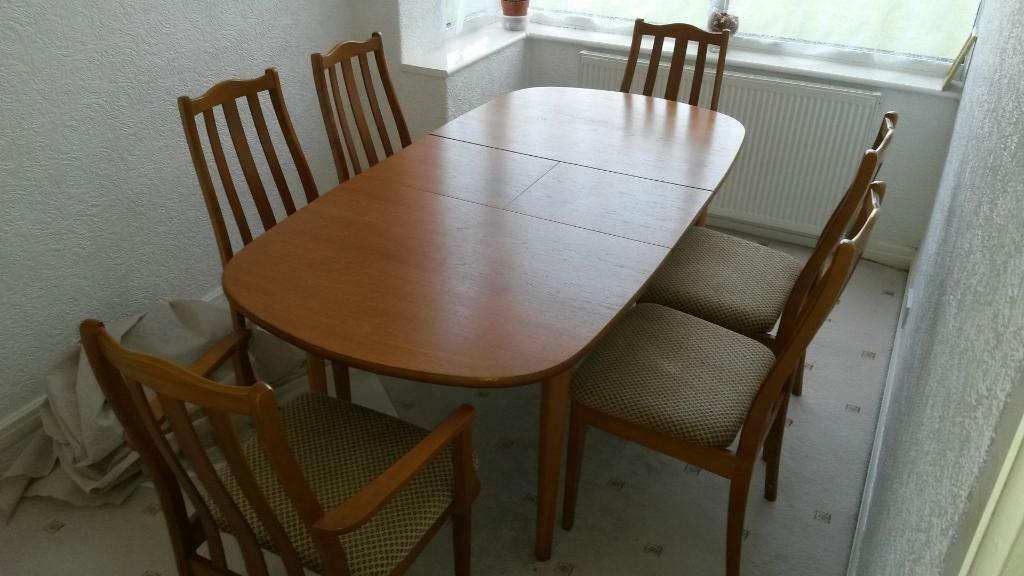 Dining Table And 6 Chairs Wooden United Kingdom Gumtree
