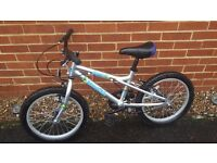 Childs Bike, Dawes Blowfish in Silver. Ages 5 - 8