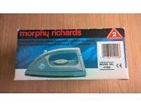 New unused Morphy Richards Voyager travel iron,