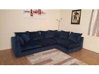 Ex-display Arighi Bianchi Bossanova blue/teal fabric corner sofa