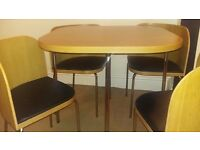 Compact Dining Table and 4 Chairs