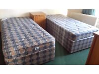 TWIN 3 FOOT DIVAN BEDS - CLEAN