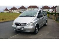 Vito 9 seater minibus very nice Family car, ex privet hire transport long distance millage