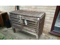 Rabbit hutch with stainless fittings and fox guard