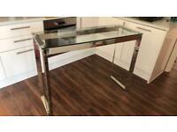 John Lewis glass top bar table