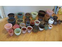 Job lot glazed ceramic plant pots various £1, £2, £3