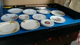 Job lot of vintage decorative plates, some china