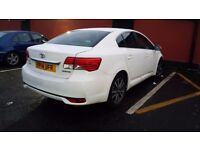 TOYOTA AVENSIS 2.0 D4D ICON 2014, WHITE, FULL SERVICE HISTORY, 4 DOOR SALOON