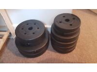 35kg Vinyl Barbell Dumbbell Set