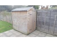 4FT X 6FT Garden Shed with Apex Overlap - Wooden Shed with Base - Collection North London