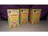 PUKKA - THREE TULSI - HOLY BASIL herb tea organic x 3 packs of 20 bags (60)