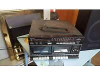 Sanyo twin cassette midi system w10