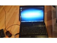 hp dual core 2.1 2gb ram 250gb hardrive webcam wifi dvd writer windows 7