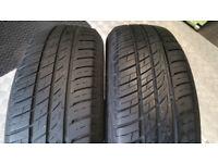 185 65 15 2 x tyres Barum Brillantis 2