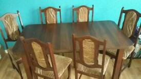 Folding table+6 chairs