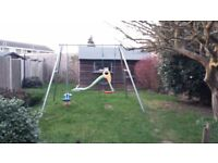 Children's swing and seesaw