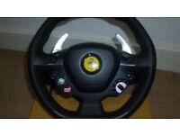 Ferrari 458 Thrustmaster steering wheel and pedals
