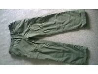 TRAKKER RIPSTOP FLEECE LINED BOTTOMS SIZE LARGE