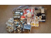 Job lot of electrical/plumbing parts all new