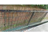 Metal fence panels and gate