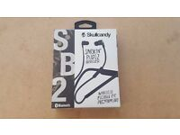SKULLCANDY WIRELESS SMOKIN BUDS 2 EARPHONES BRAND NEW SEALED WITH RECEIPT