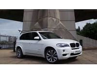 2010 10 BMW X5 35D M SPORT 5S AUTO XDRIVE WHITE 48K(PARTOME)**FINANCE AVAILABLE**WARRANTY