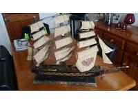 Vintage Wood Ship Model Fragata Espanola Ano 1780