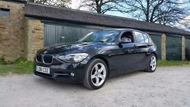 2012 BMW 120D M SPORT BLACK, LONG MOT, FULL SERVICE HIST, BLACK AND RED LEATHER