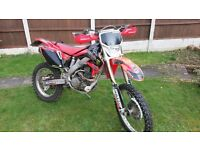 Honda CRF250X Enduro bike, road legal 250, 2004