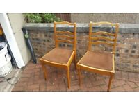 2 x Chairs - matching table also available - pending collection