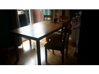 Nice table and chairs for sale