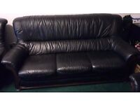three piece leather suite from buik of montrose..