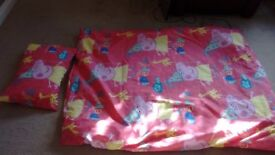 Small peppa pig quilt set, including pillow
