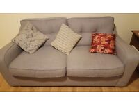 Harvey's 3 seat grey fabric sofa - like new
