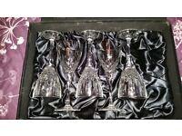 Crystal glasses by Thomas Webb (set of 5)