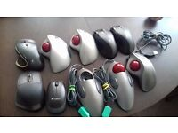 Logitech Keyboards And Marble, Trackball, Performance and Master Mice