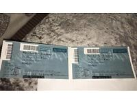 Two Shaggy tickets. 16/6/17 £40 for both