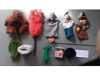 PUPPETS, (GLOVE) PLUS PROPS AND SCRIPT FOR SHOW.