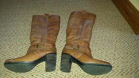Selection of fashionable ladies boots.