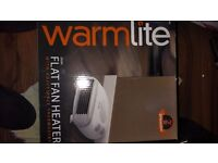 Selling 3months old warmlite flat fan heater