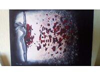 """destruction"" acrilic on canvas"