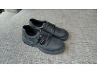Click black leather safety shoes Size 9 unworn £8