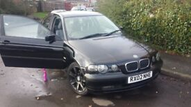 BMW BLACK PETROL 1.8 HATCHBACK MANUAL ONLY 96000 MILES DONE! £499ono.