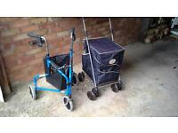 Sholley Trolley and wheeled disability walker